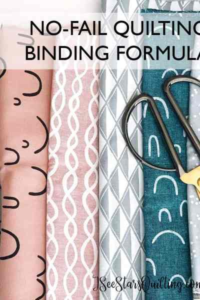 Never again have to guess at the measurements of the quilt binding. I share my quilt binding formula that is a never fail formula