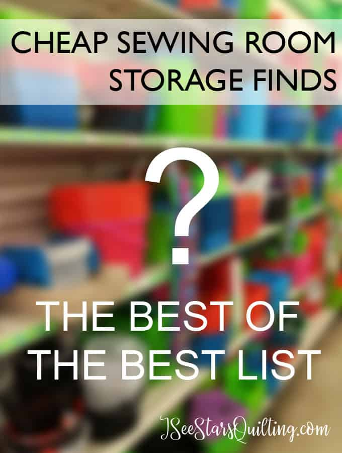 If you're looking for Cheap Sewing Room Storage Ideas, you'll find all my favorite picks here so you know what is worth the money and what isn't worth your time