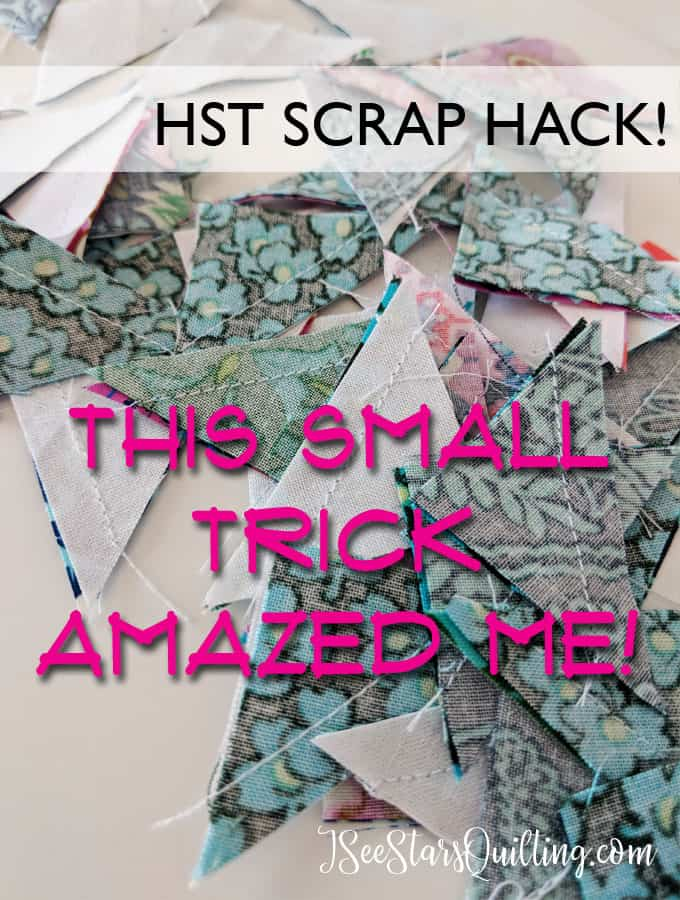 This simple step will save you time in the sewing process and make your HST scraps a breeze! Quilt faster and use up those scraps!