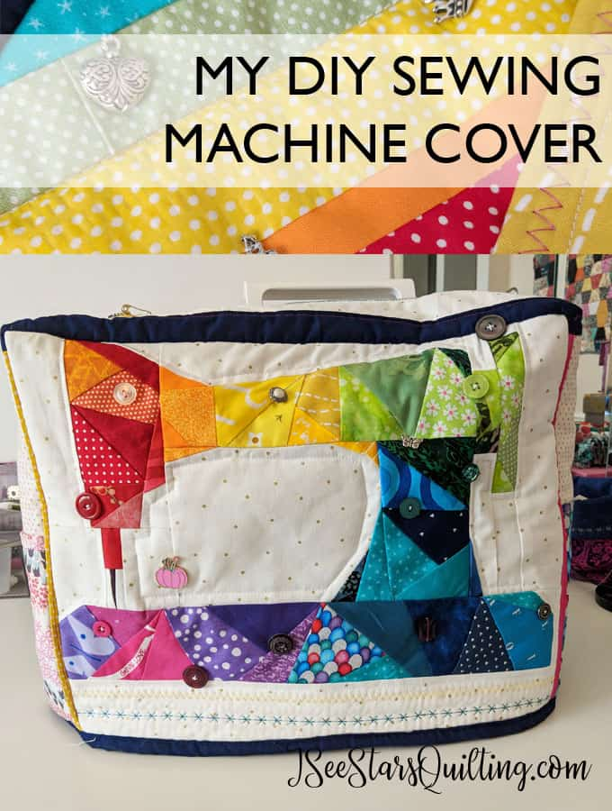How cute is this DIY Sewing Machine Cover?!? I want to make one! She even lists tips to make your own cover. I love to sew. I need to make this.