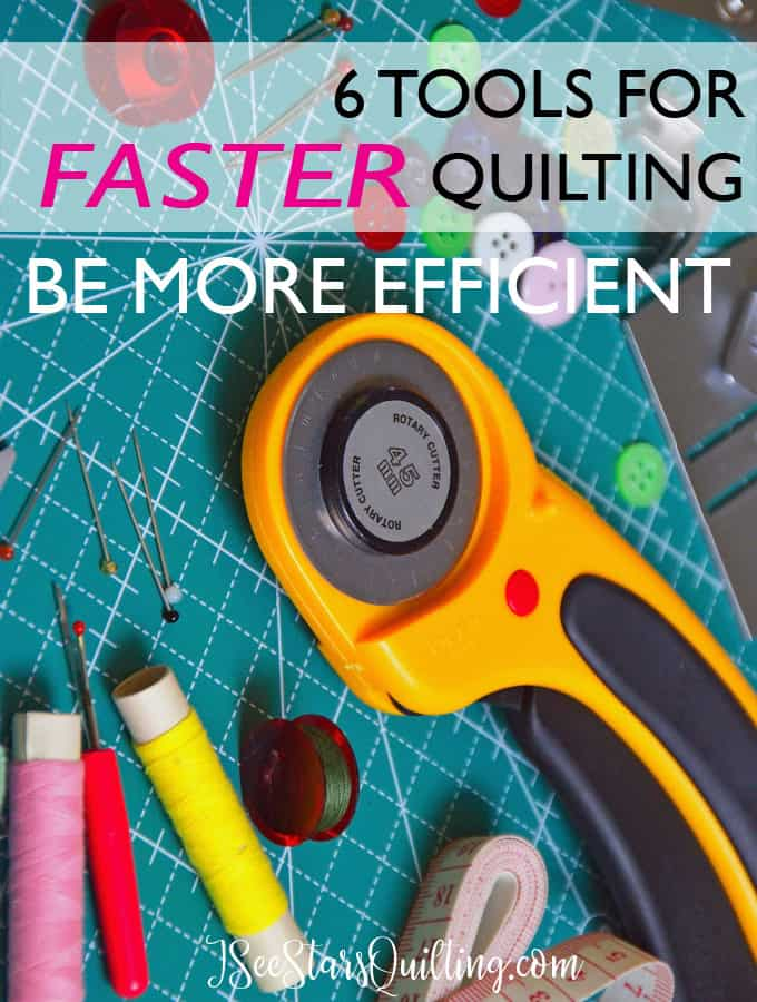 These 6 tools are the ones that you need to have for faster quilting! With years of experience in quilting, these 6 tools are the ones that have helped me work most efficiently to get more work done in less time. Do you have them all?