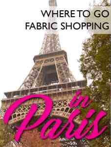 If you're ready to go to the beautiful city of Paris and are looking for where the best place to shop for fabric is... I found it while on my recent trip! You can't miss these places!