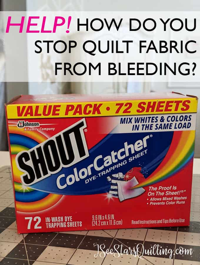 Have you ever made a quilt and then stopped to cry when you realized the fabrics were bleeding after being washed? - Relax! I have the solution you've been looking for! This little secret will save your fabric sanity!