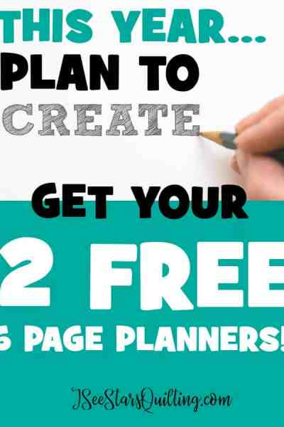 Download this FREE quilt planner and get organized so that you can create more! 6 pages of everything you need. nothing you don't!