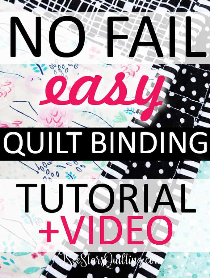How to bind your quilt - A no fail easy approach to quilt binding