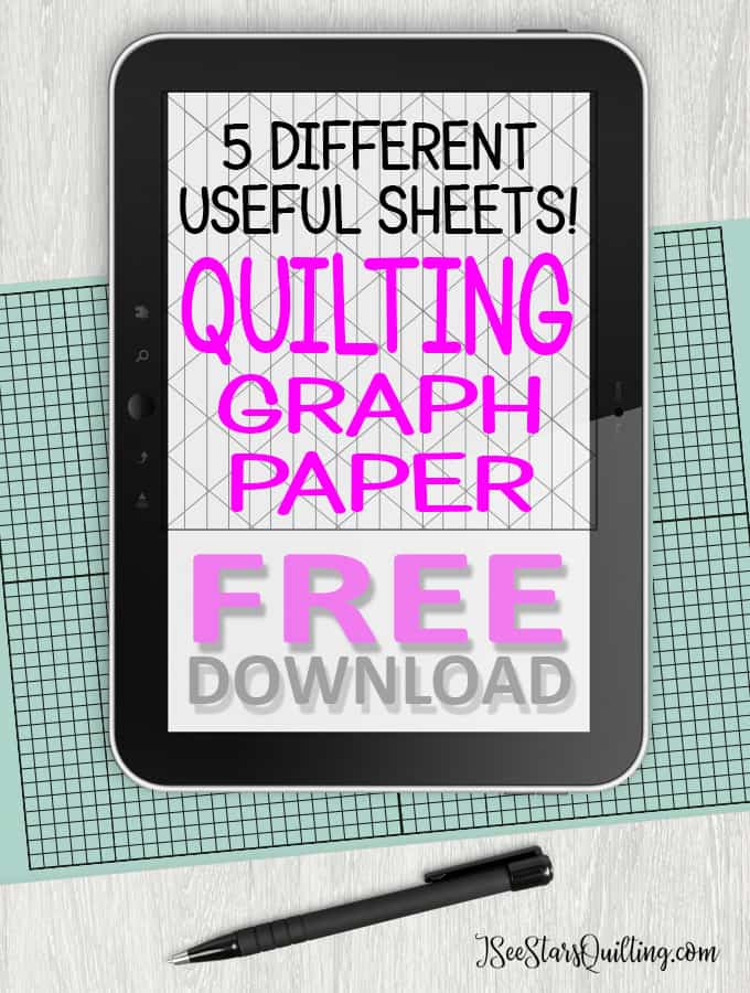 Do you like to create your own quilt patterns? I created these 5 printable sheets as a FREE download just for you!