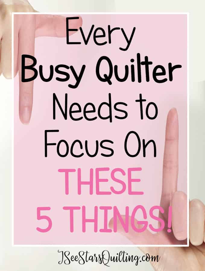 Want to up your quilting game? Focusing on these 5 things is going to make sure that you stay amazing!