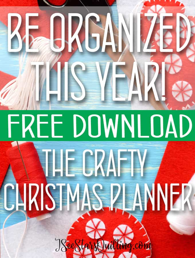 Get organized with your crafty gift plans NOW! Christmas isn't a time to stress! This free printable will help you make a plan and have you stress free this holiday season!