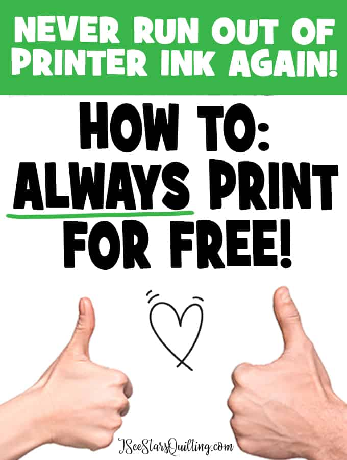 Printing get expensive! I'm going to share this simple trick I use for how to print your quilt patterns for FREE! It is so easy!