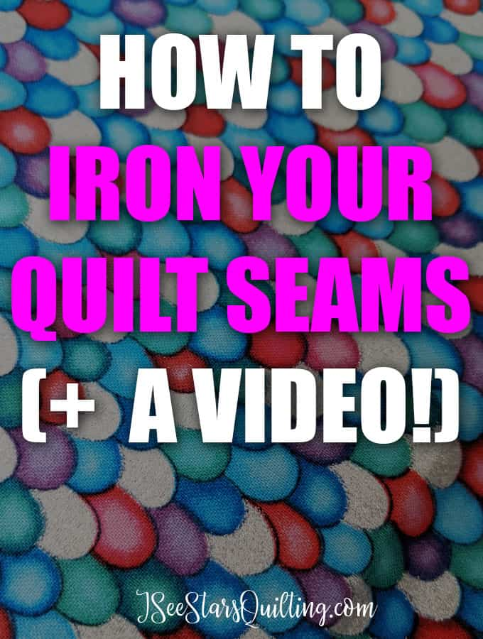 Do you HAVE to iron your quilt seams? How should you do it? I answer these questions and more + PLUS I have a tutorial video to show you how I iron! Don't miss this :)