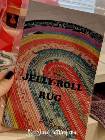 This is the progress I've made so far on the Jelly Roll Rug pattern. Has it been a fun pattern? yes. Has it given me challenges? Yes! I'll fill you in on my learning mistakes here...