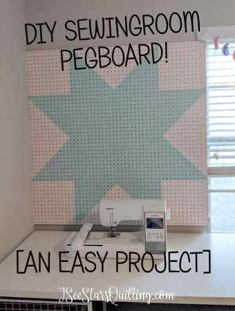 This DIY Pegboard Tutorial has step by step instructions and tips to make your own pegboard for your sewing and crafting tools! This is a super easy project! Anyone can make one!