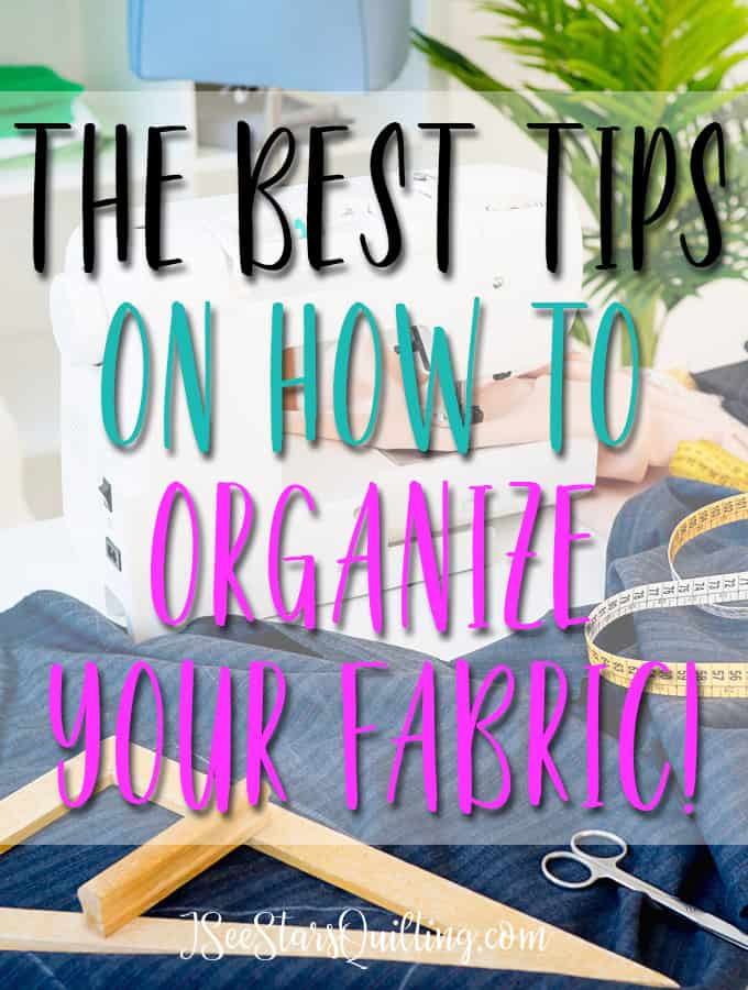 Fabric storage doesn't have to be complicated or expensive! See how I store my fabric and keep my space clean and organized!