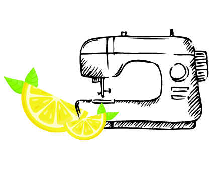 Lemonade Retreat Graphic with sewing machine