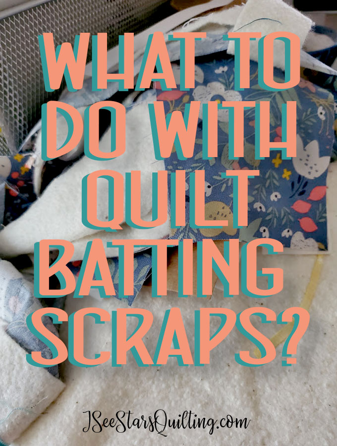 What do you do with leftover quilt batting scraps? I have a wonderful solution to turn them into frankenbatting... if that confuses you, it is not near as hard as it sounds. It's a great way to make use of leftovers!