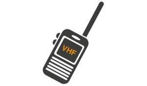 Grafik VHF-Radion. Fra Trygfondens hjemmeside Respekt for vand - de 5 sejlråd