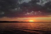 Solnedgang i Nykøbing bugt
