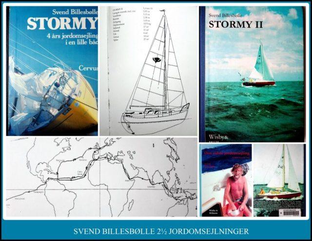 Collage med fotos af Svends Billebølle's bøger og Lynæs 18 senior.