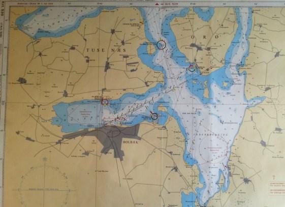 Holbæk fjord - Tysk søkorts-serie