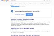 Google søgning Isefjorden 27/12-2017