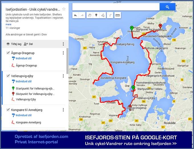 Den unikke Isefjordssti på Google-kort
