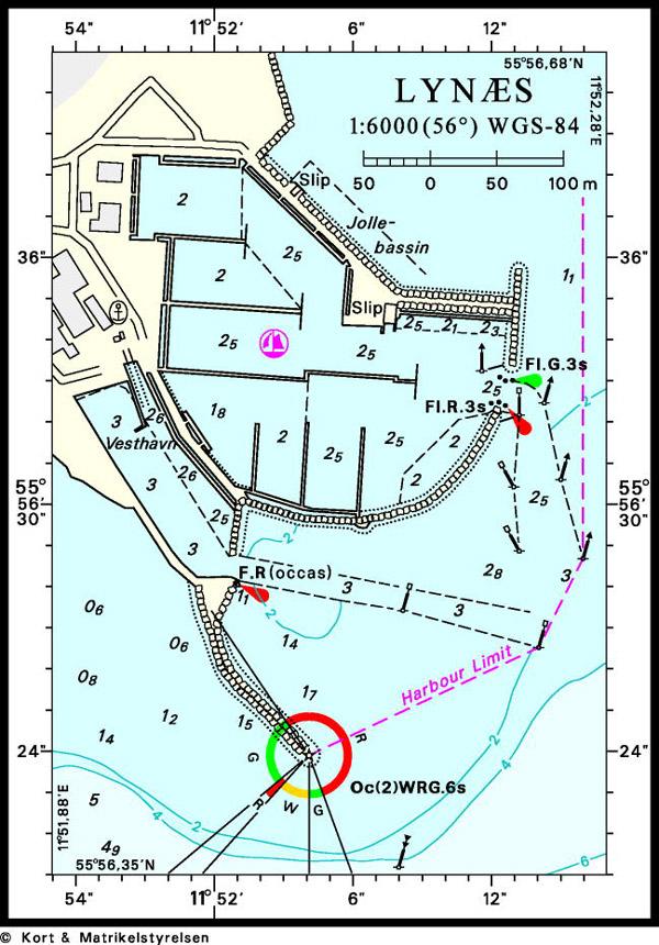 Havne I Isefjorden Danmark Sokort 116