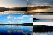 Collage med fotos fra Bramsnæs bugt - Isefjord.