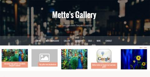 Hjemmeside til billedkunstner