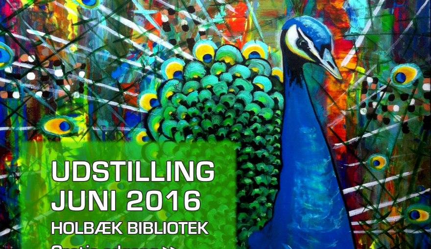 Mette Thorgår udstiller akrylmalerier Juni 2016 på Holbæk Bibliotek