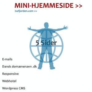 Mini-hjemmeside løsning 5 Sider. Isefjorden.com