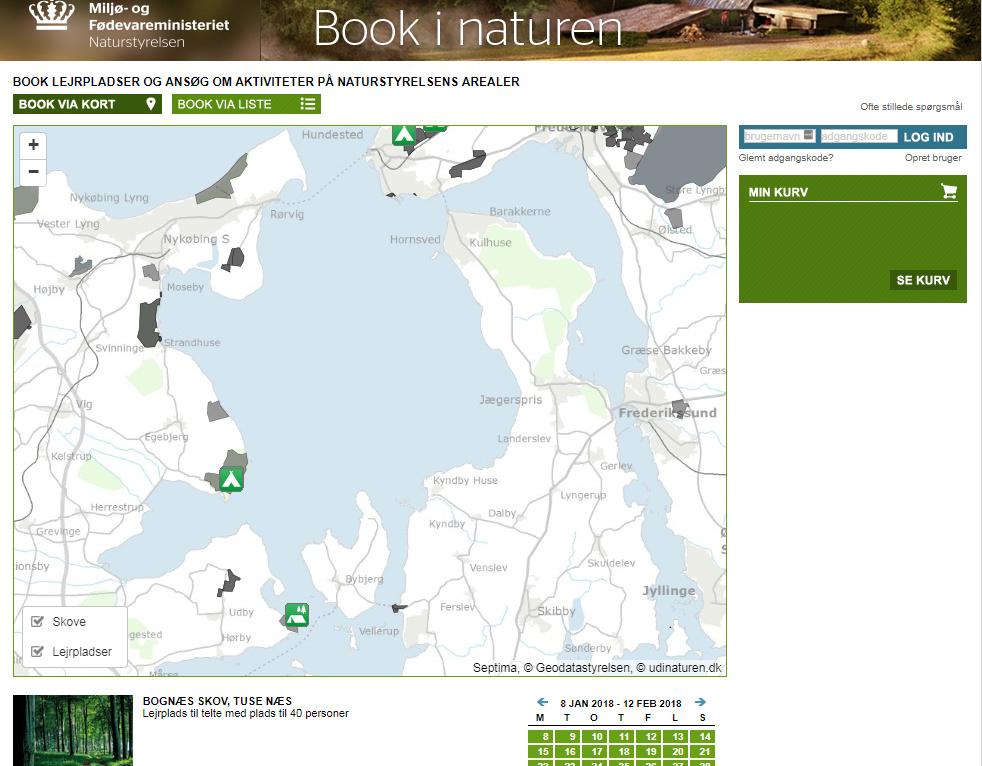 Booking Af Lejrpladser Omkring Isefjorden Isefjorden Danmark