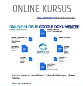 Onlinekursus 3Wave.dk - Google Drev og dokumenter