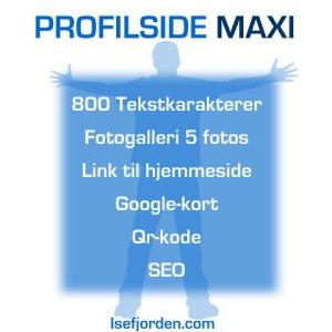 Profilside Maxi på internetportalen Isefjorden.com