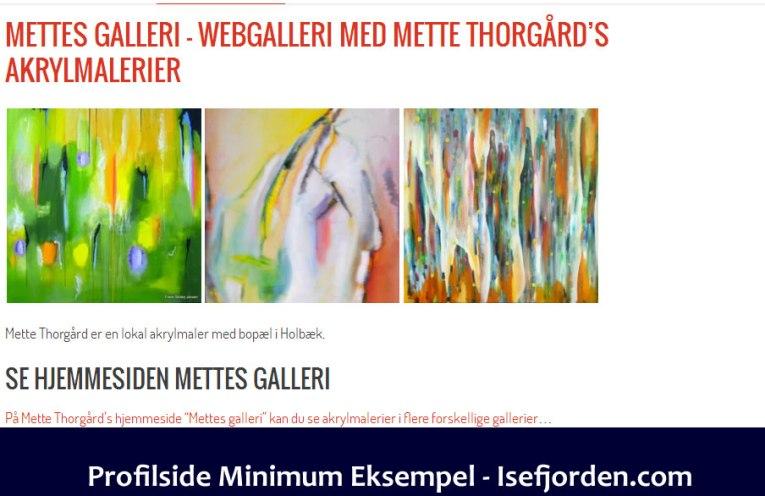 Eksempel på profilside minimum på Isefjorden.com