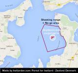 Shooting range Jægerspris - No go zone