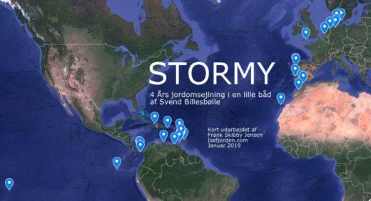 Google-kort med STORMY 1 jordomsejlning