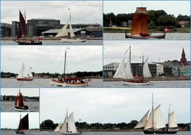 Collage med fotos Træf fjordens træbåde 2018 Holbæk fjord