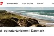 Skærmbillede af Visit Denmark hjemmeside - Kystturisme