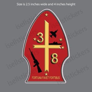 3rd Battalion 8th Marines Infantry Camp Lejeune Decal Sticker