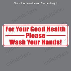Bathroom Kitchen Wash Your Hands Restaurant Notice Door Vinyl Window Sticker Decal