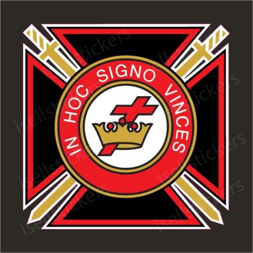 Knights Templar Catholic Cross Masonic Car Bumper Sticker Window Decal