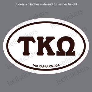 Lee University Tau Kappa Omega Euro Window Bumper Sticker Car Decal