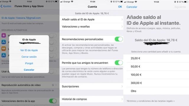 Cómo añadir saldo a tu ID de Apple desde los ajustes de tu iPhone/iPad