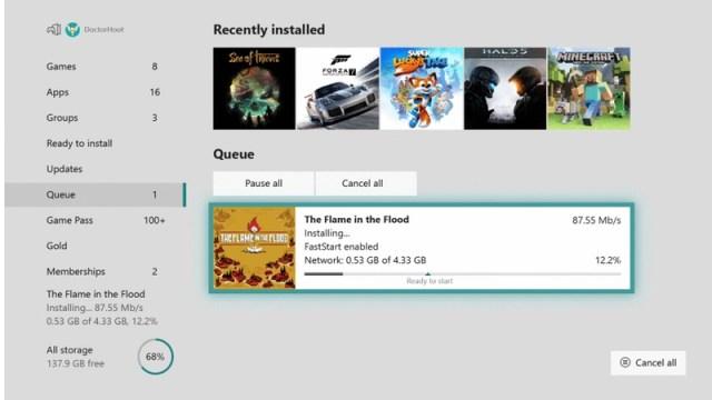 Pronto podrás jugar antes de descargar los juegos en Xbox One