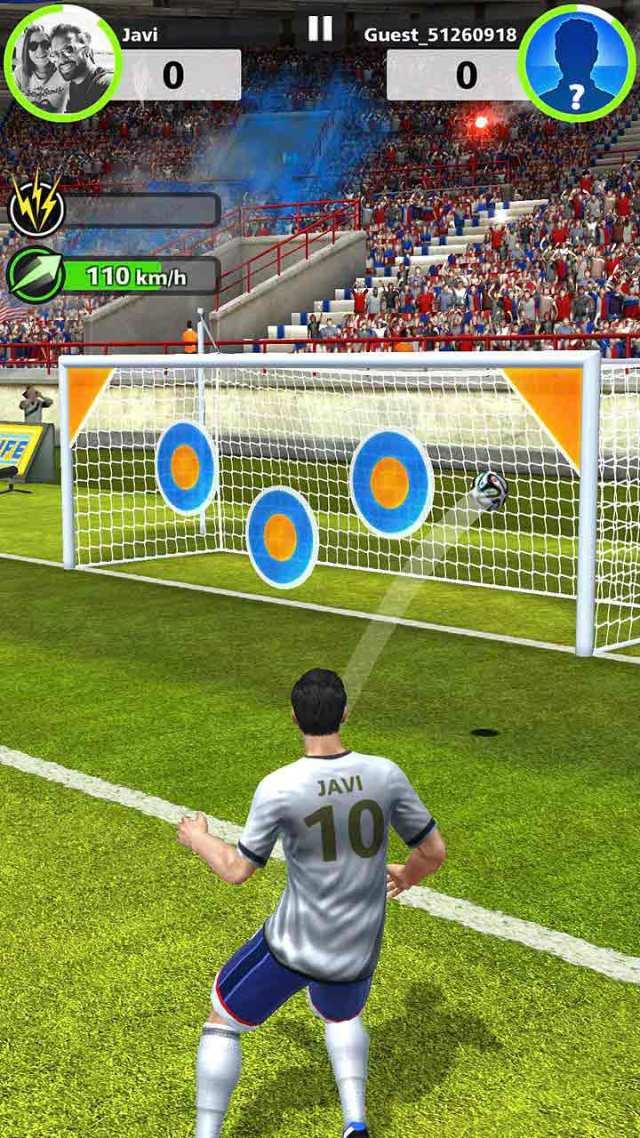 Lanzamiento de falta en Football Strike