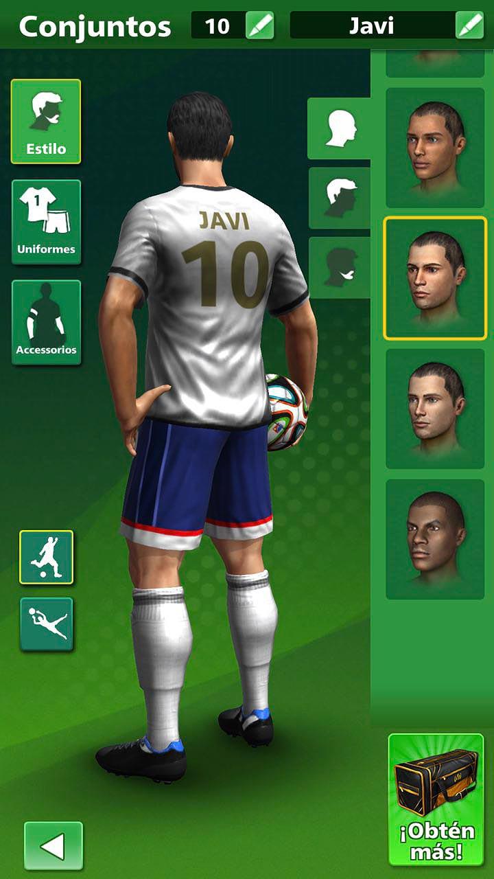 Personalización de jugadores en Football Strike