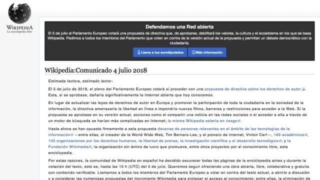 Comunicado Wikipedia