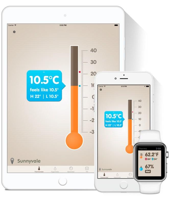 Thermo-hygrometer para iOS y watchOS