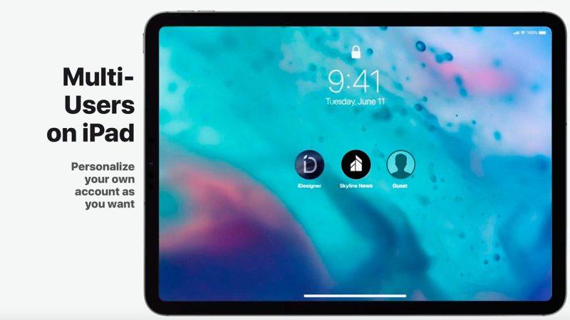 El iPad necesita ya tener cuentas multiusuario con iOS 13