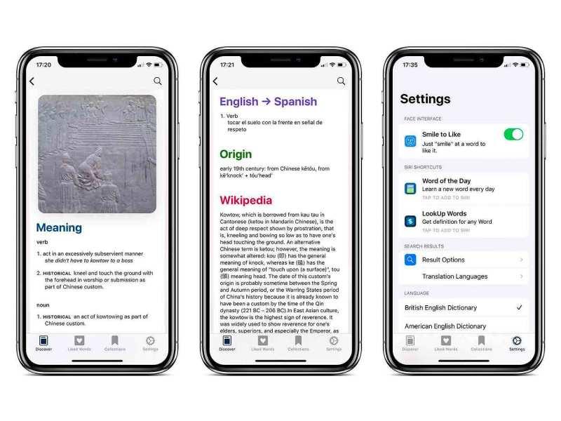 Palabras en LookUp para iOS